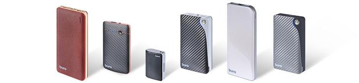 Серия портативных аккумуляторов BURO