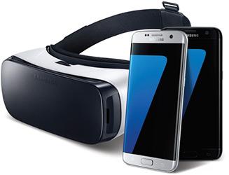 Смартфон Samsung Galaxy S7, очки виртуальной реальности Gear VR